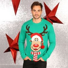 3D RUDOLPH KNITTED JUMPER WITH LIGHTS
